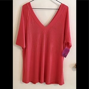 Banabee Plus NWT 3X Coral-top with silver stones.